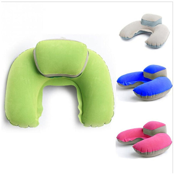 Pillow Inflatable Neck U Shape Blow Up - Pack For Paradise
