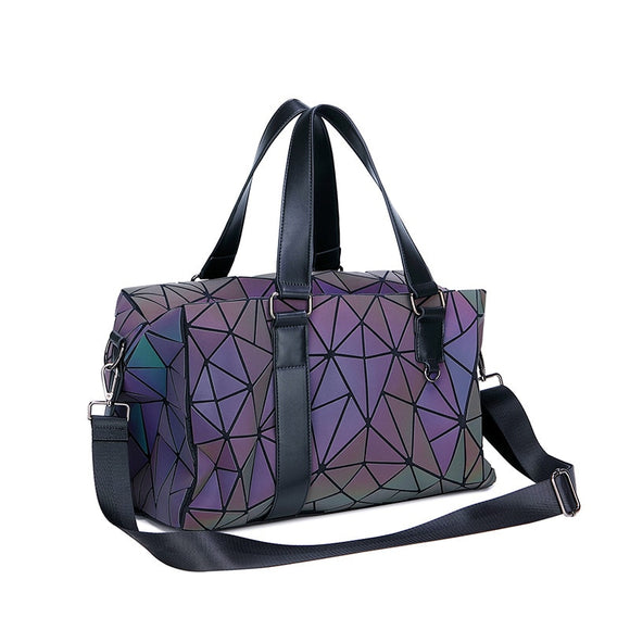 Geometric Travel Luggage/Duffle Weekend Bag Large - Pack For Paradise