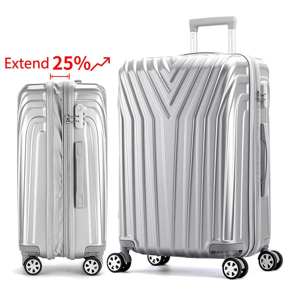 24/29 in Aluminum  Rolling Luggage Set - Pack For Paradise