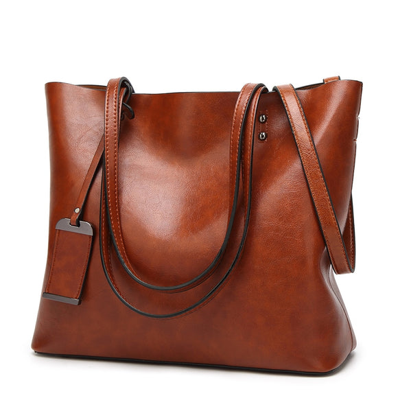 Woman Leather Tote Bag - Pack For Paradise