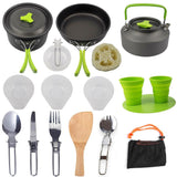 Aluminum Camping Cookware Set - Pack For Paradise