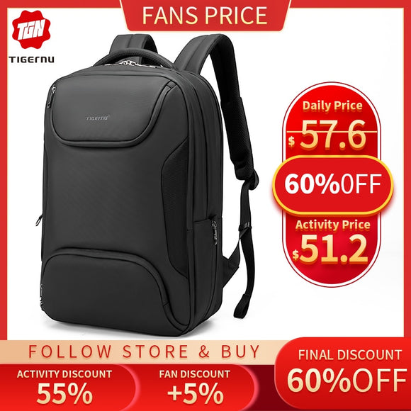 15.6 inch Men Anti-thief Laptop Backpack Waterproof  USB Charging - Pack For Paradise
