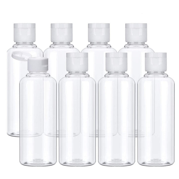 20Pcs Plastic Bottles 10/30/50/60/100ml - Pack For Paradise