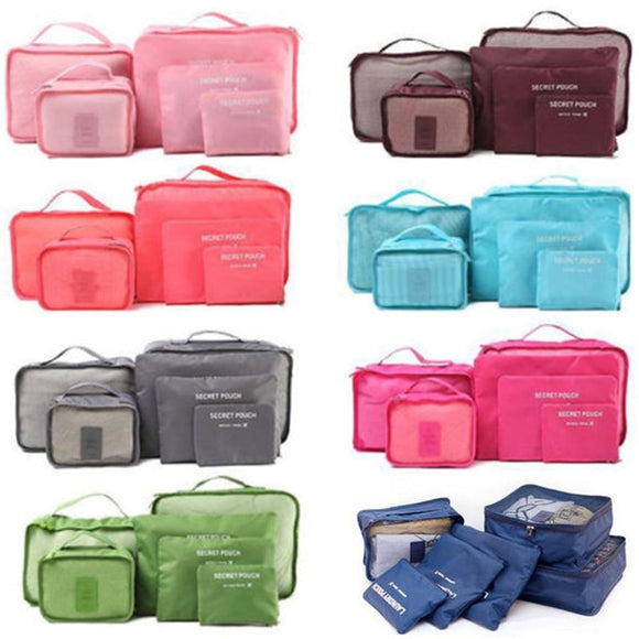 6 Piece/set Wareproof Travel Cubes - Pack For Paradise