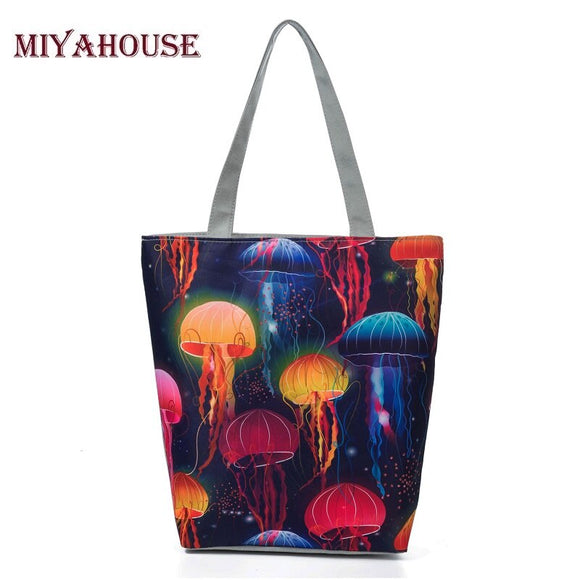Miyahouse Casual Jellyfish Printed Women Beach Bag - Pack For Paradise