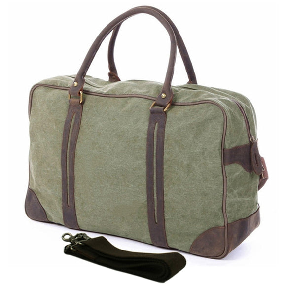 Vintage Military Canvas/Leather Travel Bag - Pack For Paradise