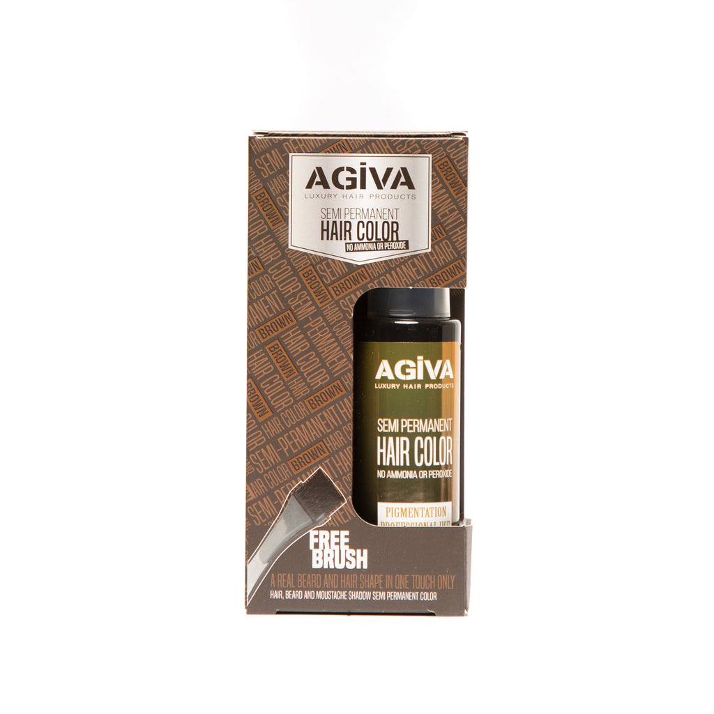 AGIVA BROWN SEMI-PERMANENT HAIR COLOR 120 ML - Agiva Gel