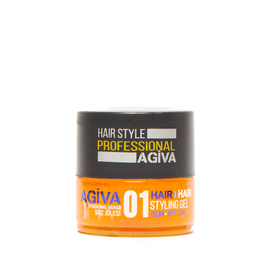 AGIVA HAIR STYLING GEL 01 WET LOOK MEDIUM HOLD 200 ML