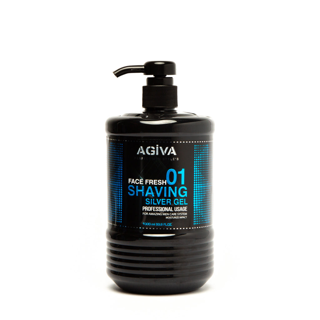 AGIVA TRANSPARENT SHAVING GEL 01 MOISTURIZE IMPACT 1000 ML - Agiva Gel