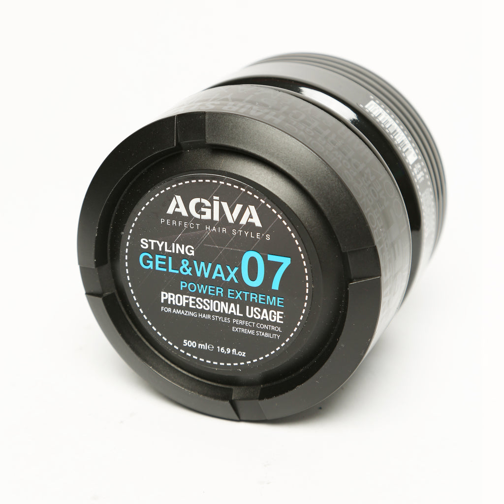 AGIVA HAIR STYLING GEL & WAX 07 SHINY FINISH EXTREME POWER HOLD 500 ML