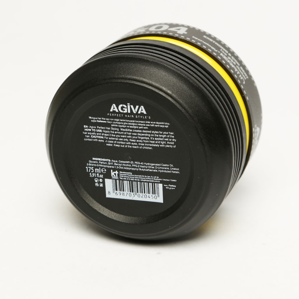 AGIVA HAIR STYLING CRYSTAL WAX 04 WET LOOK EXTRA STRONG HOLD 175 ML - Agiva Gel