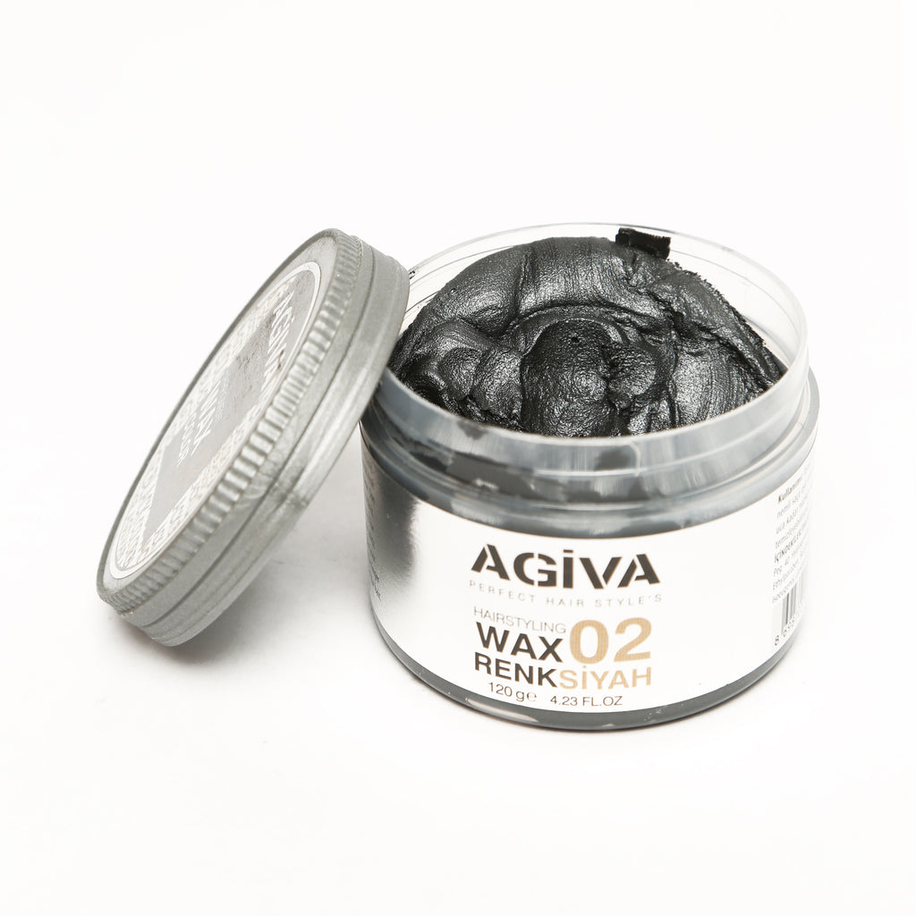 AGIVA BLACK COLOR WAX 02 STRONG HOLD 120 ML - Agiva Gel