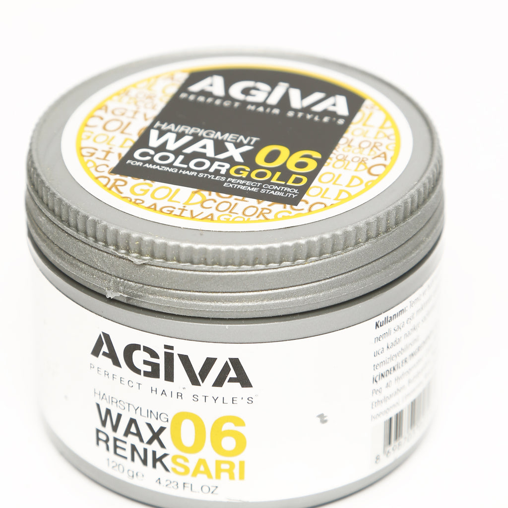 AGIVA YELLOW COLOR WAX 06 STRONG HOLD 120 ML - Agiva Gel
