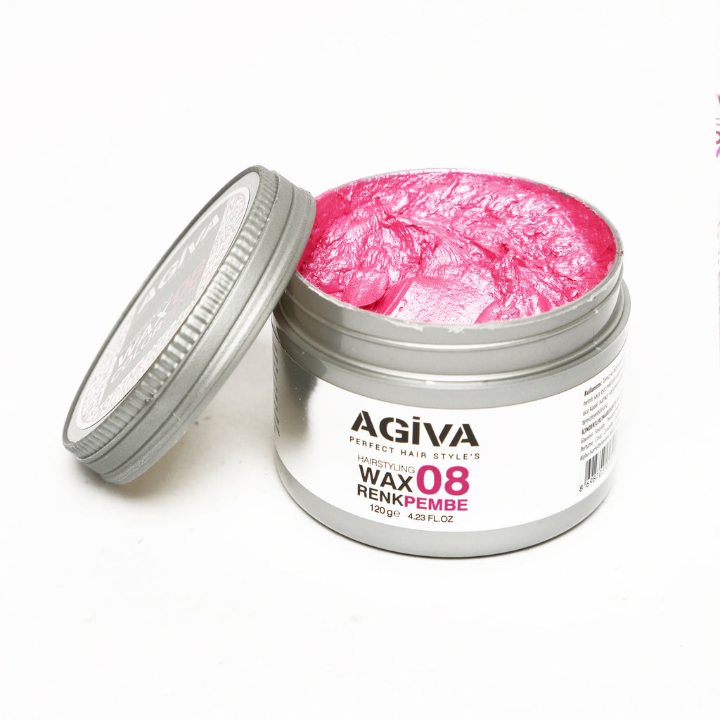AGIVA PINK COLOR WAX 08 STRONG HOLD 120 ML - Agiva Gel