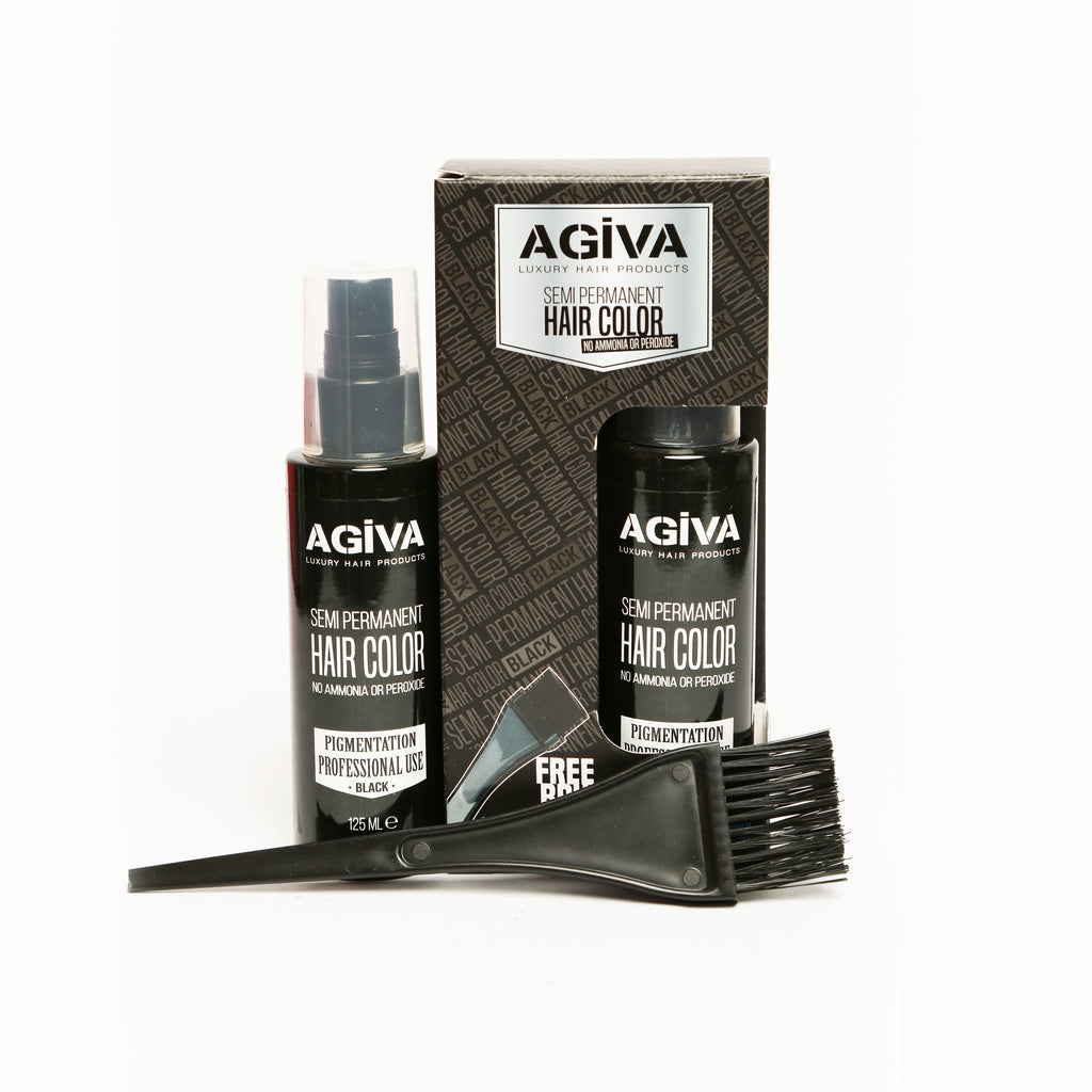 AGIVA BLACK SEMI-PERMANENT HAIR COLOR 120 ML