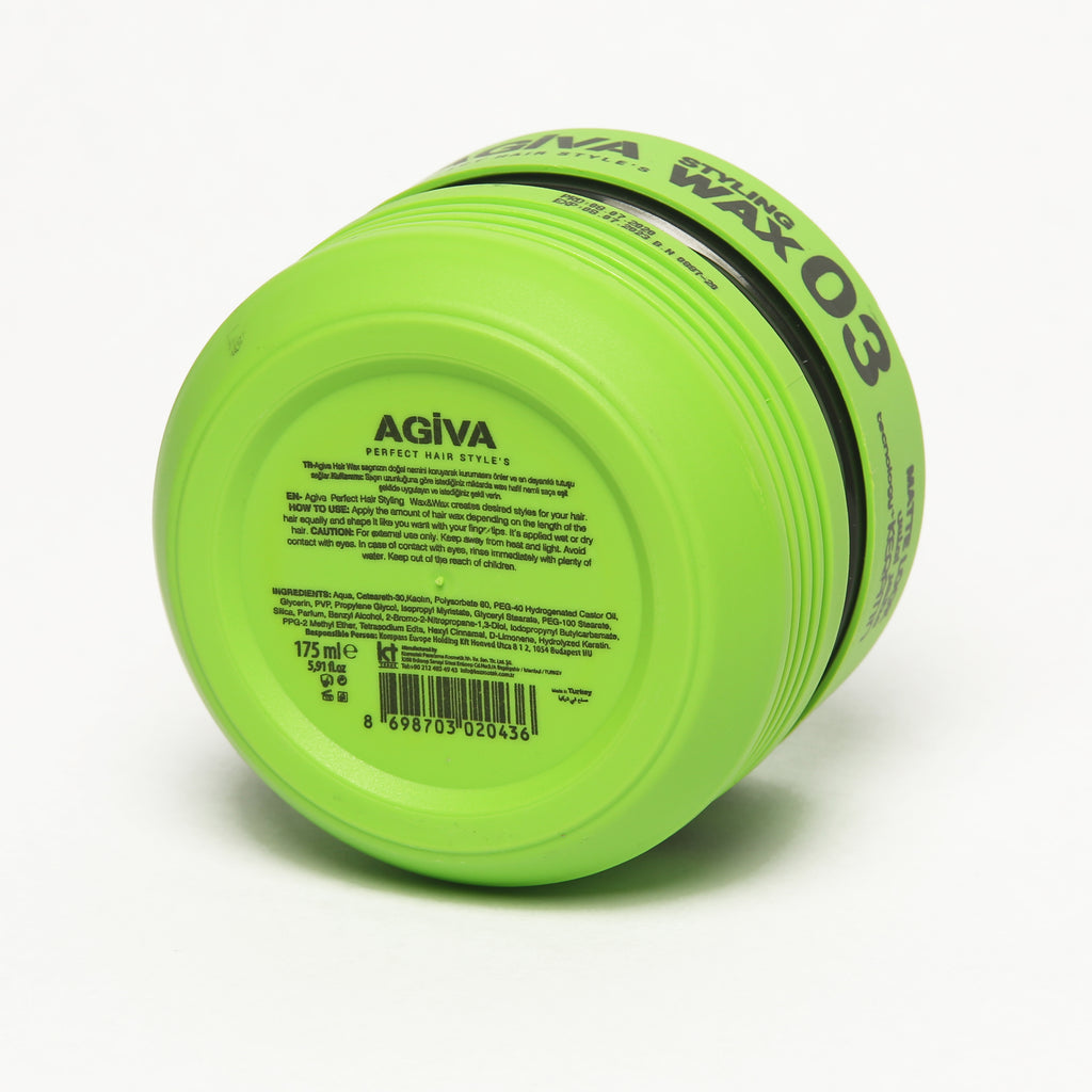 AGIVA HAIR STYLING CLAY WAX 03 MATTE FINISH STRONG HOLD 175 ML - Agiva Gel