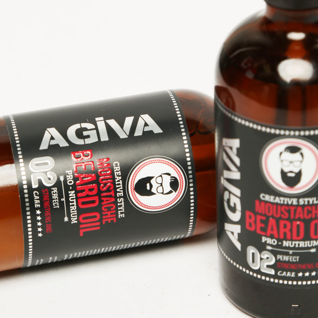 AGIVA MUSTACHE AND BEARD OIL GLASS BOTTLE 100 ML