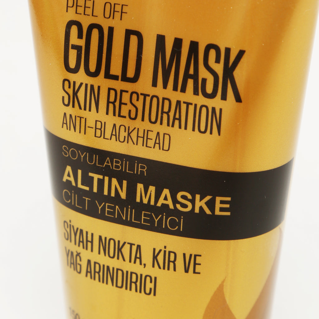 AGIVA PEEL OFF GOLD MASK SKIN RESTORATION ANTI-BLACKHEAD 150 ML