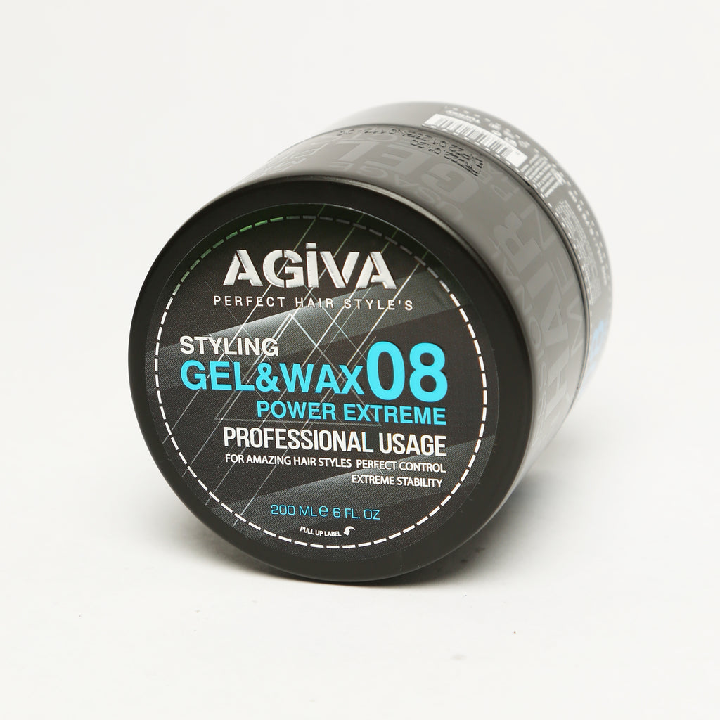 AGIVA HAIR STYLING GEL & WAX 08 SHINY FINISH EXTREME POWER HOLD 200 ML - Agiva Gel