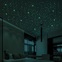 Load image into Gallery viewer, 202 PCS/SET 3D Bubble Luminous Stars Dots Wall Sticker