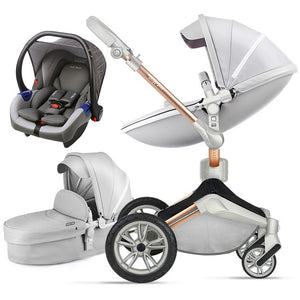 Luxury Baby Stroller 3 in 1 360° Rotation children stroller