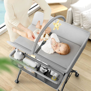 Hermes Luxury 3 in one Crib/Bed/Diaper changing table