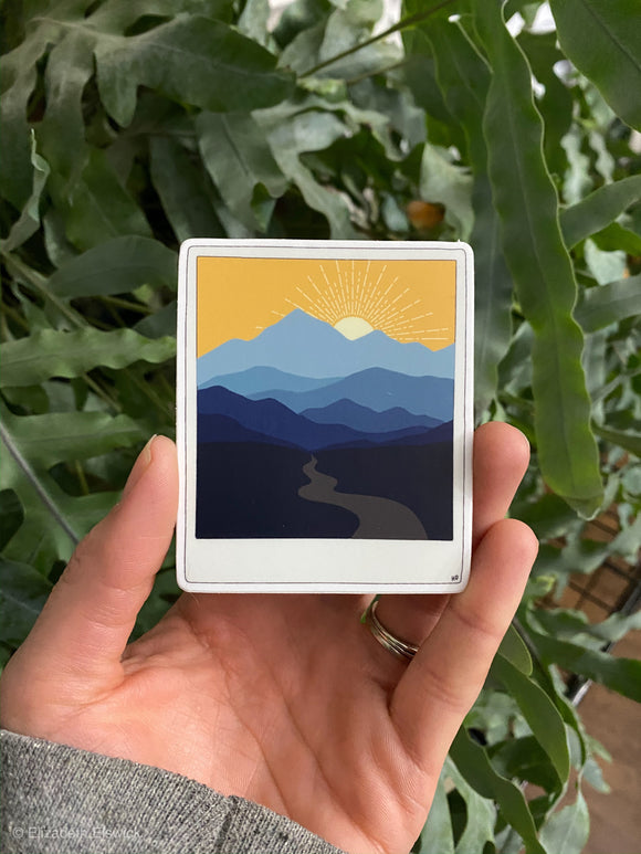 blue ridge mountains // sticker