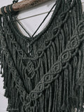 olivia // large dark green macrame wall hanging