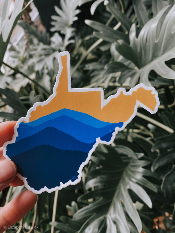 mountain of wv // sticker