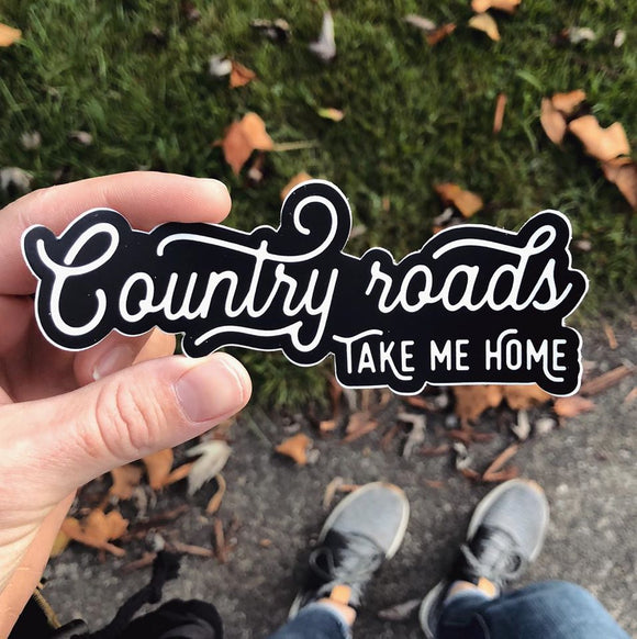 country roads // sticker