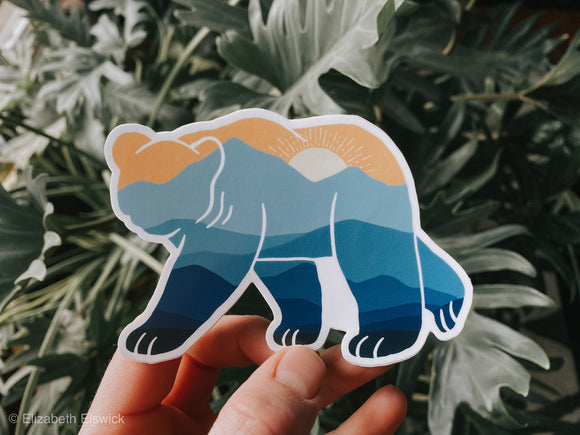 mountain bear // sticker