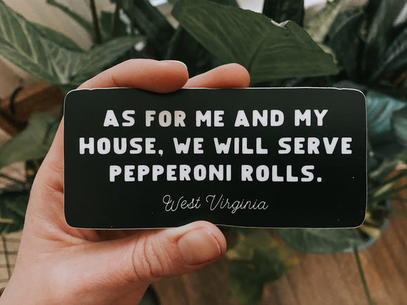 serve pepperoni rolls // sticker