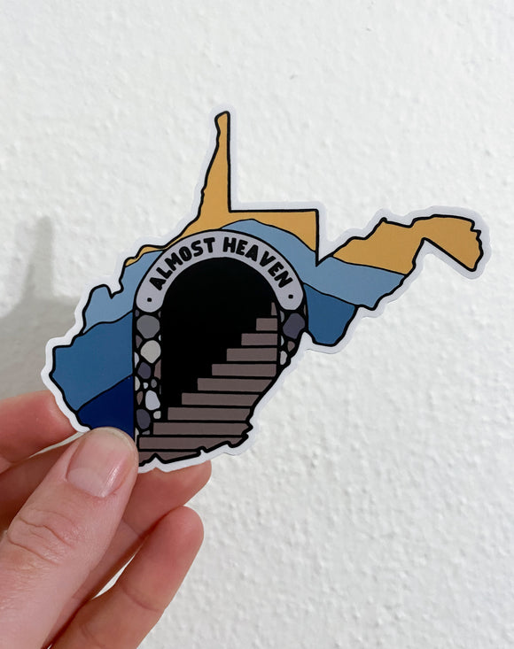 Almost heaven WV // sticker
