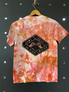 come hell or high water hand dyed t-shirt