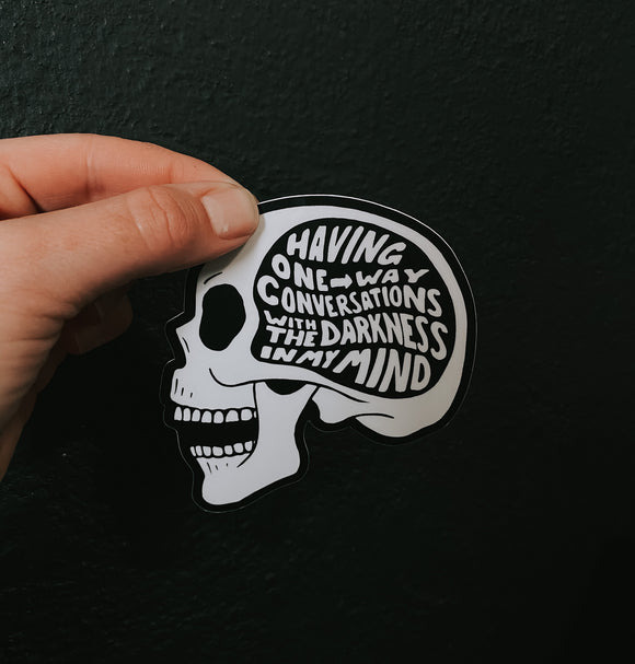 Dark mind // sticker