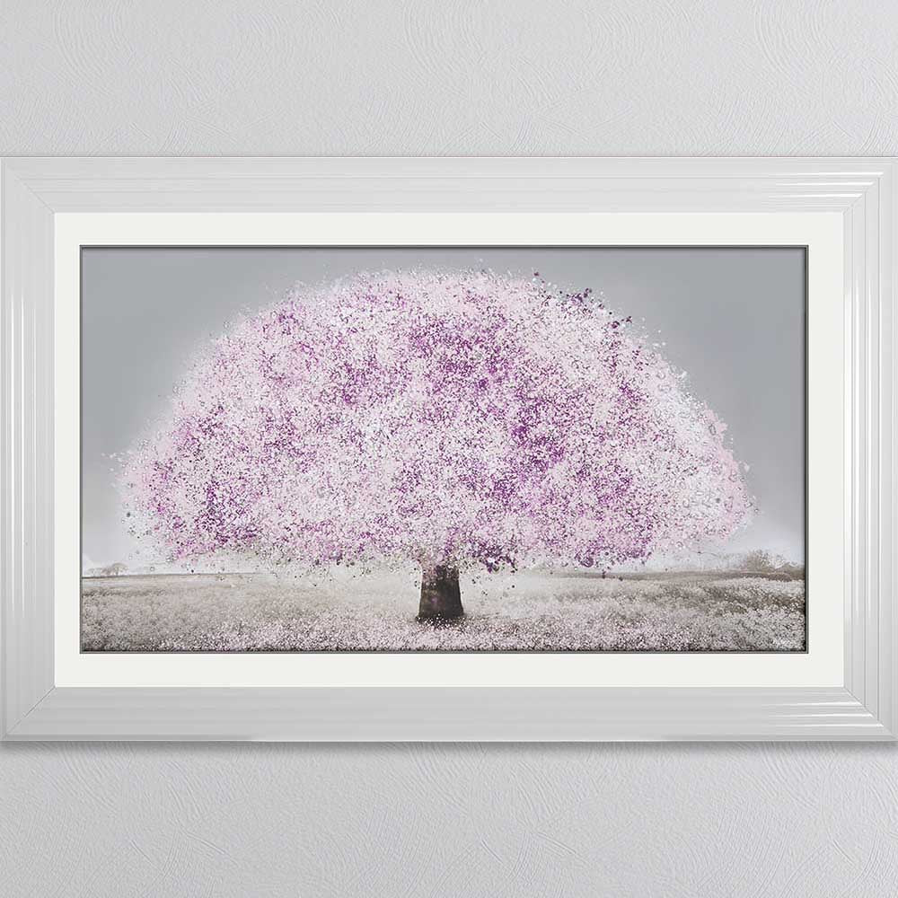 BLUSH BLOSSOM TREE FRAMED WALL ART