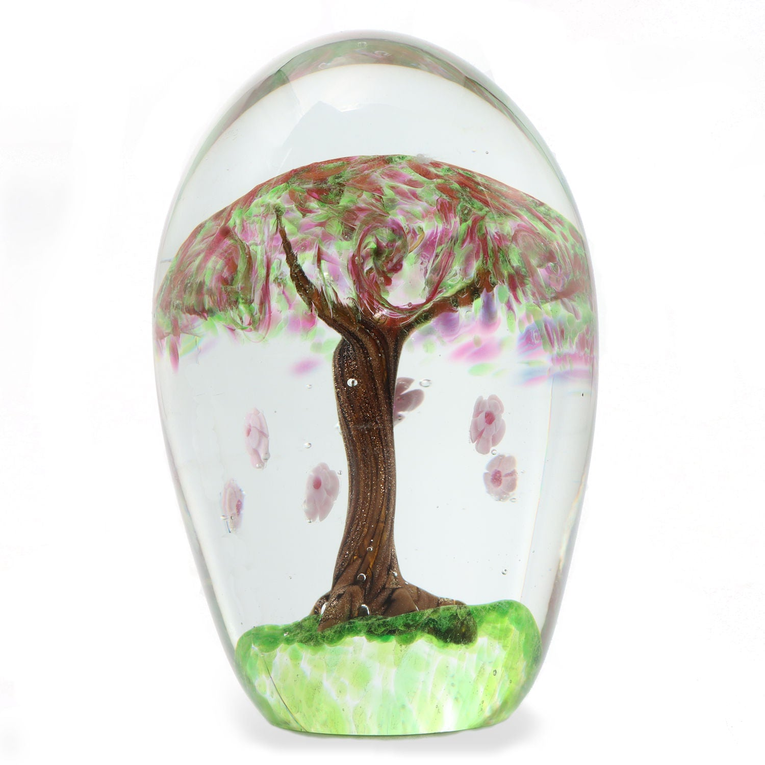 GREEN TREE GLASS PAPERWEIGHT