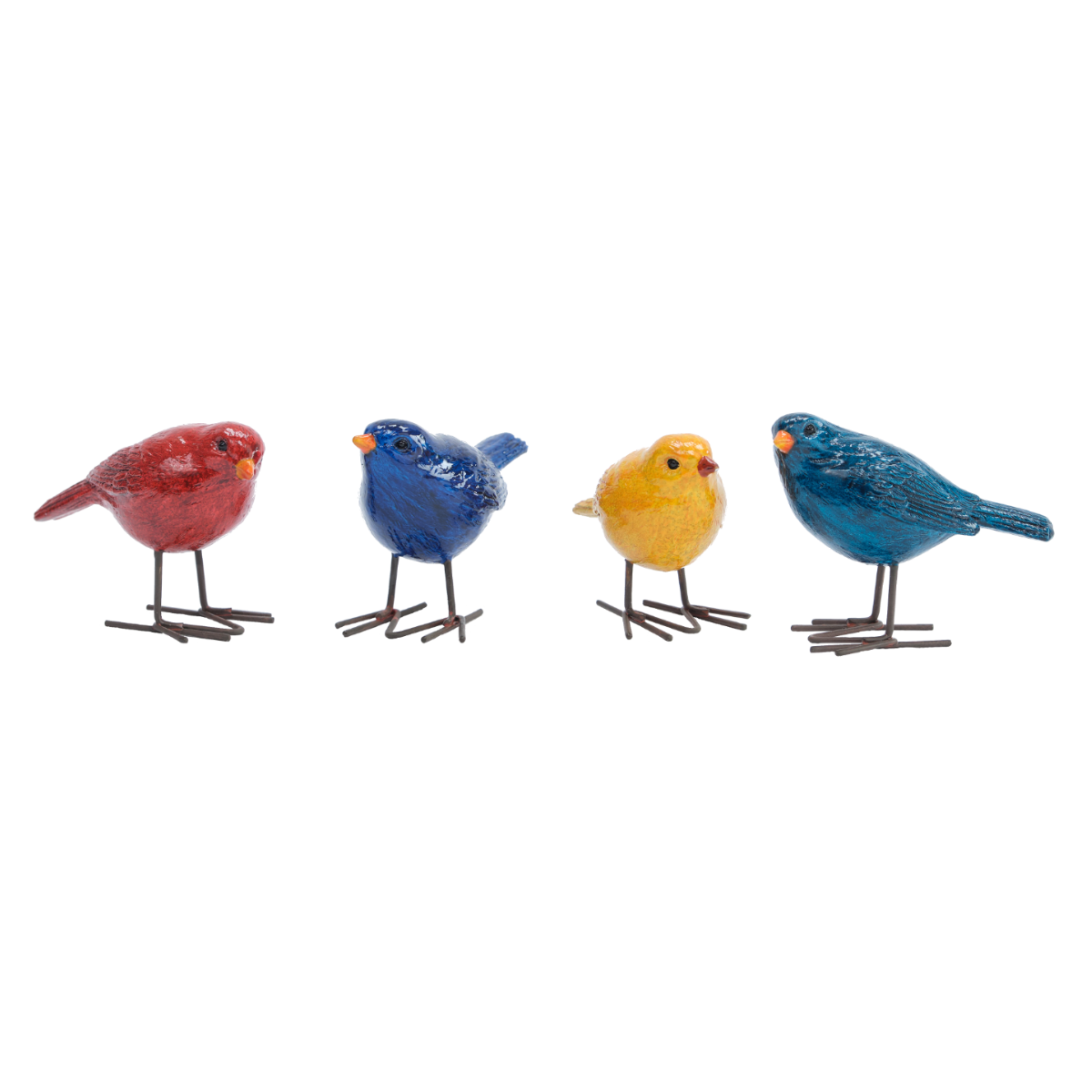 SET OF FOUR SMALL BIRDS