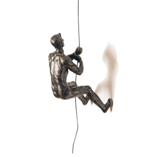 ABSEILING MAN – SILVER
