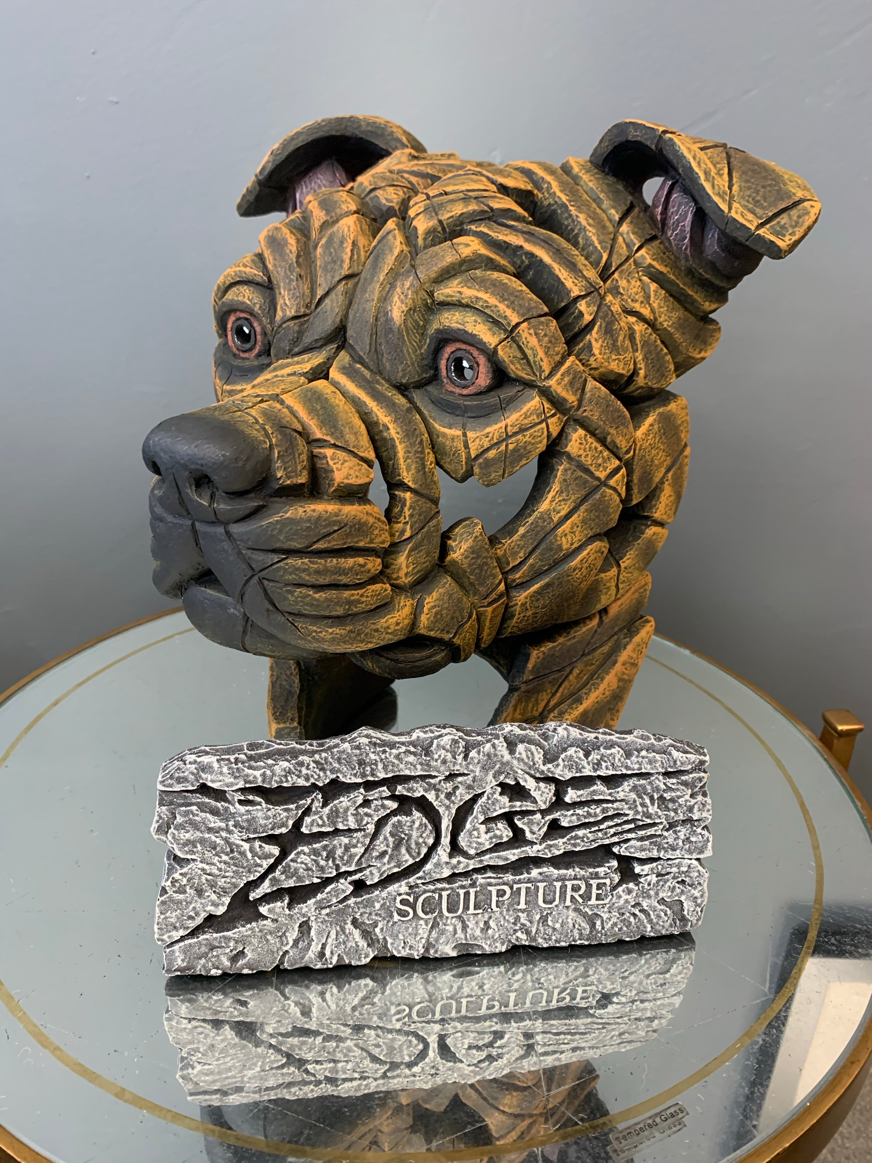 Edge  Staffordshire Bull Terrier Bust (Brindle)
