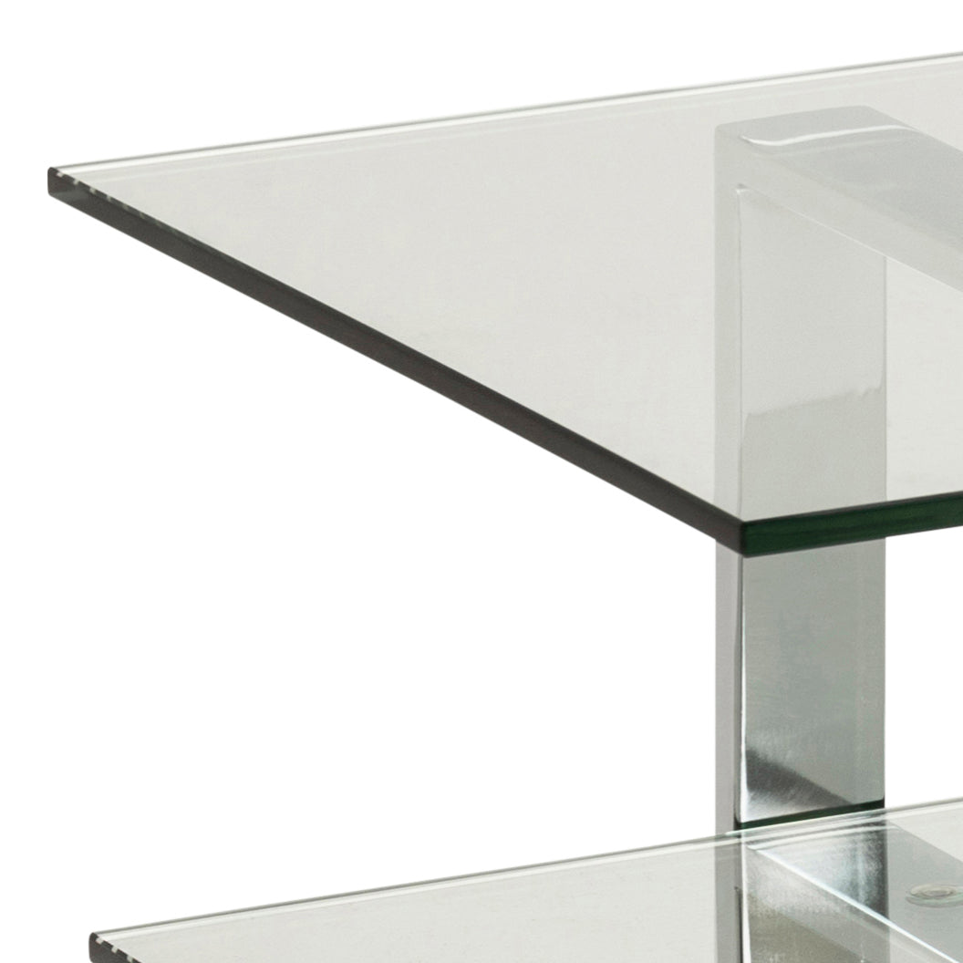 space TV-table clear glass