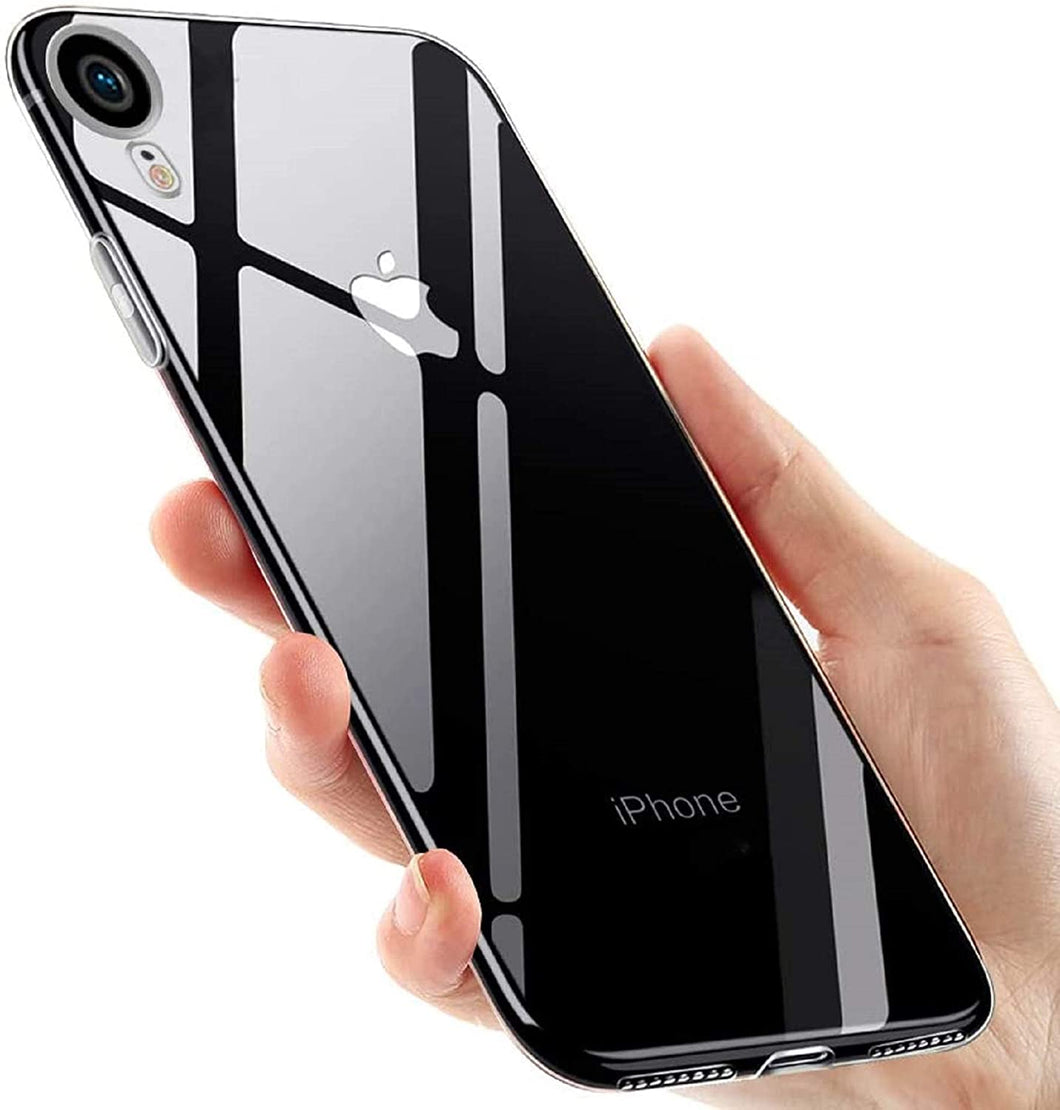 Coque iPhone XRVLONE Noir Transparent Coque Compatible iPhone XR