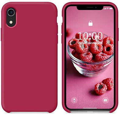 Coque iPhone XR Magnifique 09 Red Luxe Original Silicone Officielle LOGO  étui iPhone 5SE 8Plus Étui Liquide Apple iPhone Max pro
