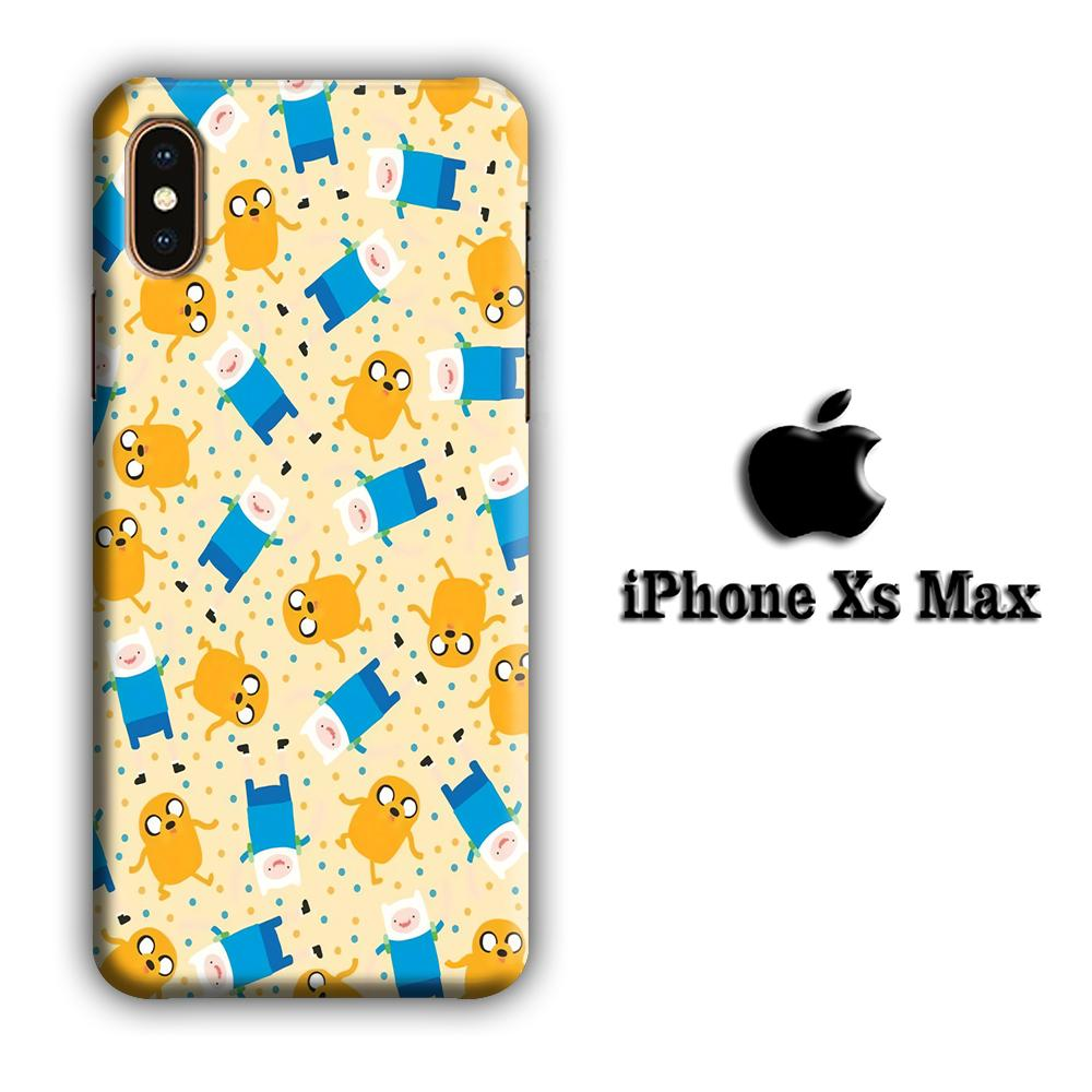 CN Adventure Time Jake and Finn iPhone Xs Max 3D coque custodia fundas