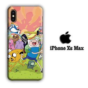 CN Adventure Time and In Action iPhone Xs Max 3D coque custodia fundas