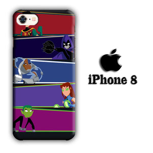 CN Teen Titans Ready to Fight iPhone 8 3D coque custodia fundas