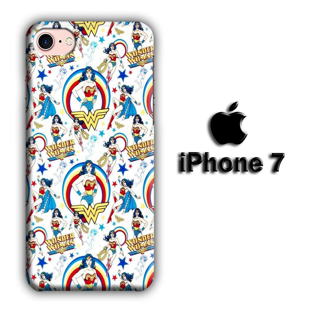 Cartoon of Wonderwoman Wallpaper iPhone 7 3D coque custodia fundas