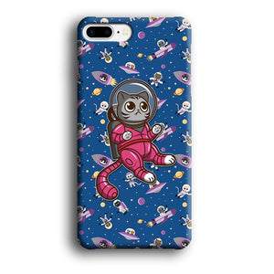Cat Astronaut From Earth iPhone 8 Plus 3D coque custodia fundas