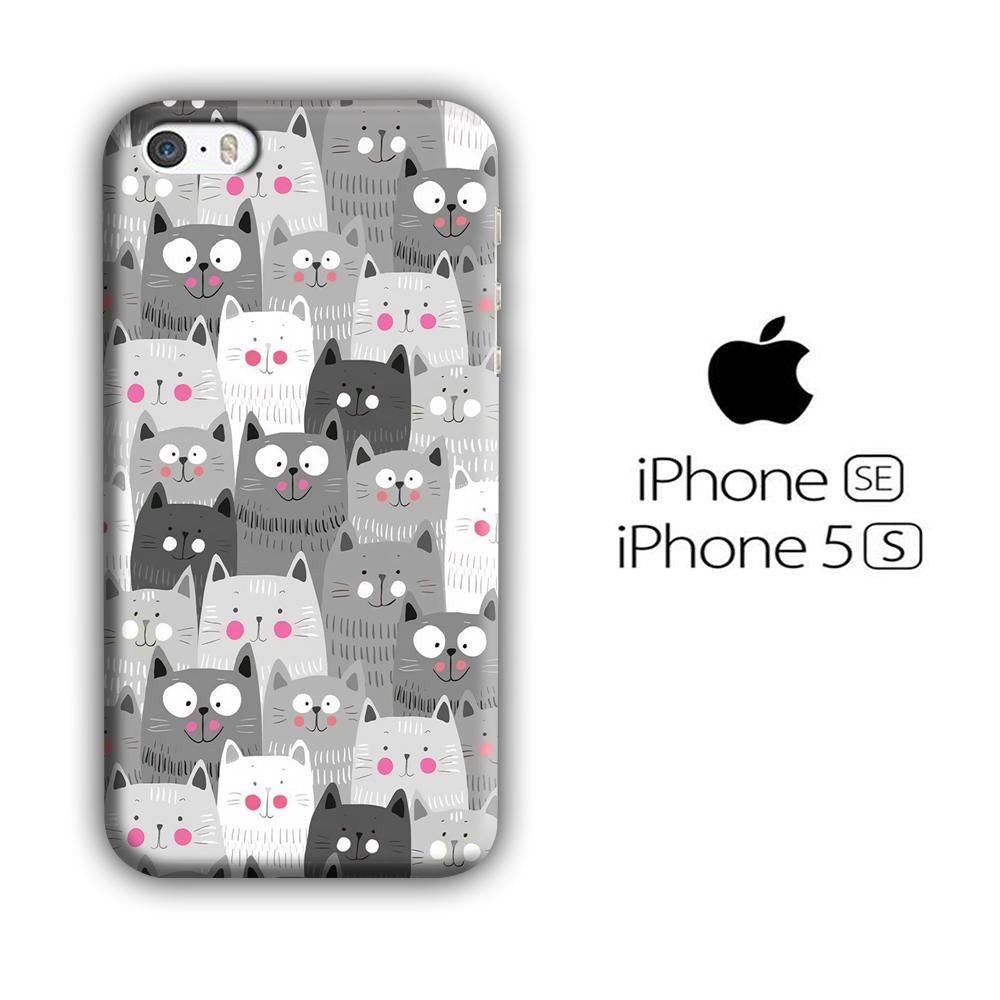 Cat Smily Collage iPhone 5 | 5s 3D coque custodia fundas
