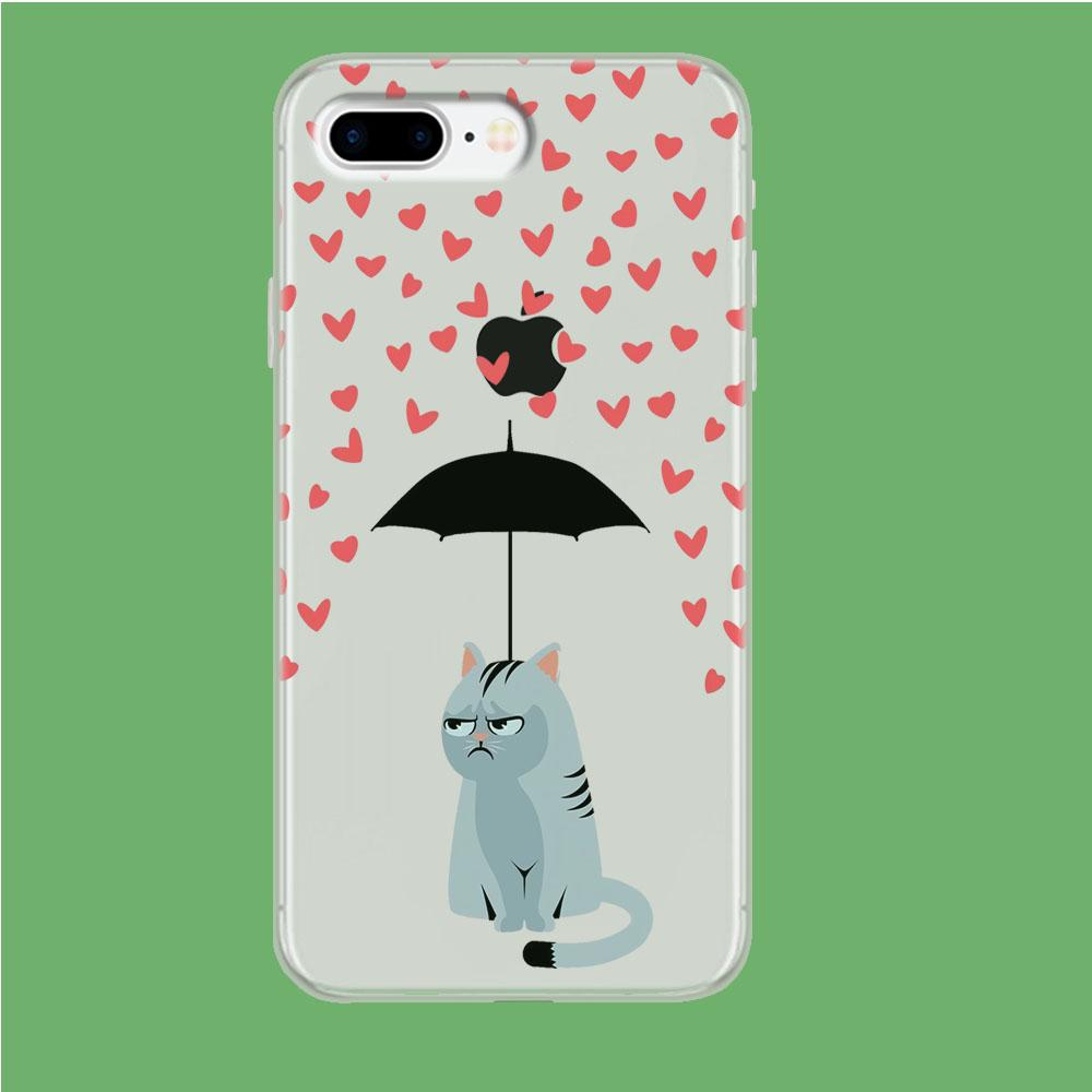 Cat in A Good Day iPhone 8 Plus Clear coque custodia fundas